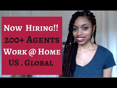 Now Hiring! 200+Agents. Work At Home Jobs . US & Global.