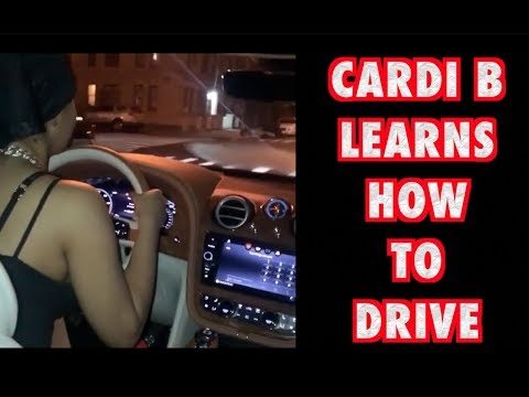 Cardi Learning How To Drive In Her New Bentley Truck