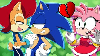 SONIC AND SALLY GET CAUGHT BY AMY! - Sonic Plays Sonic World