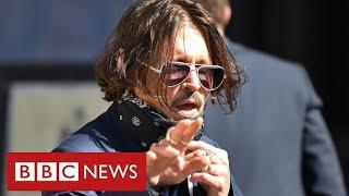 "Johnny Depp denies ""destructive and violent behaviour"" at High Court in London - BBC News"
