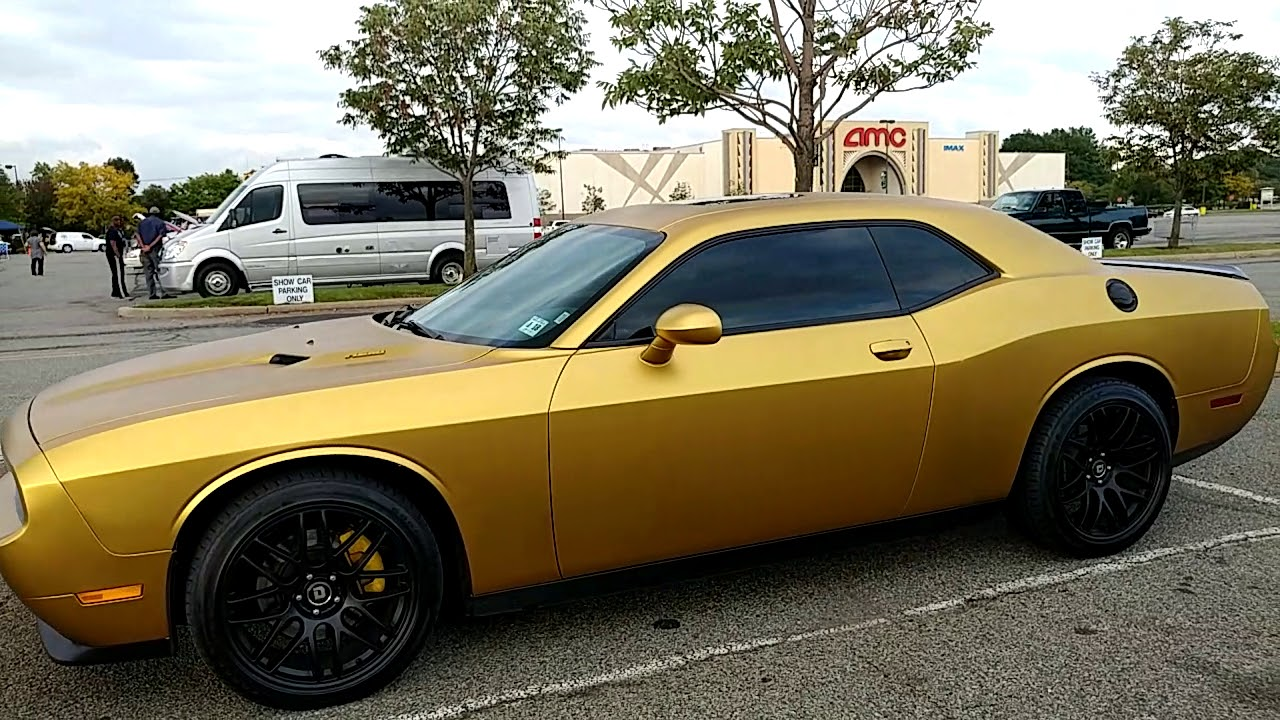 2014 Dodge Challenger Rt 1000 Satin Gold Wrap Youtube