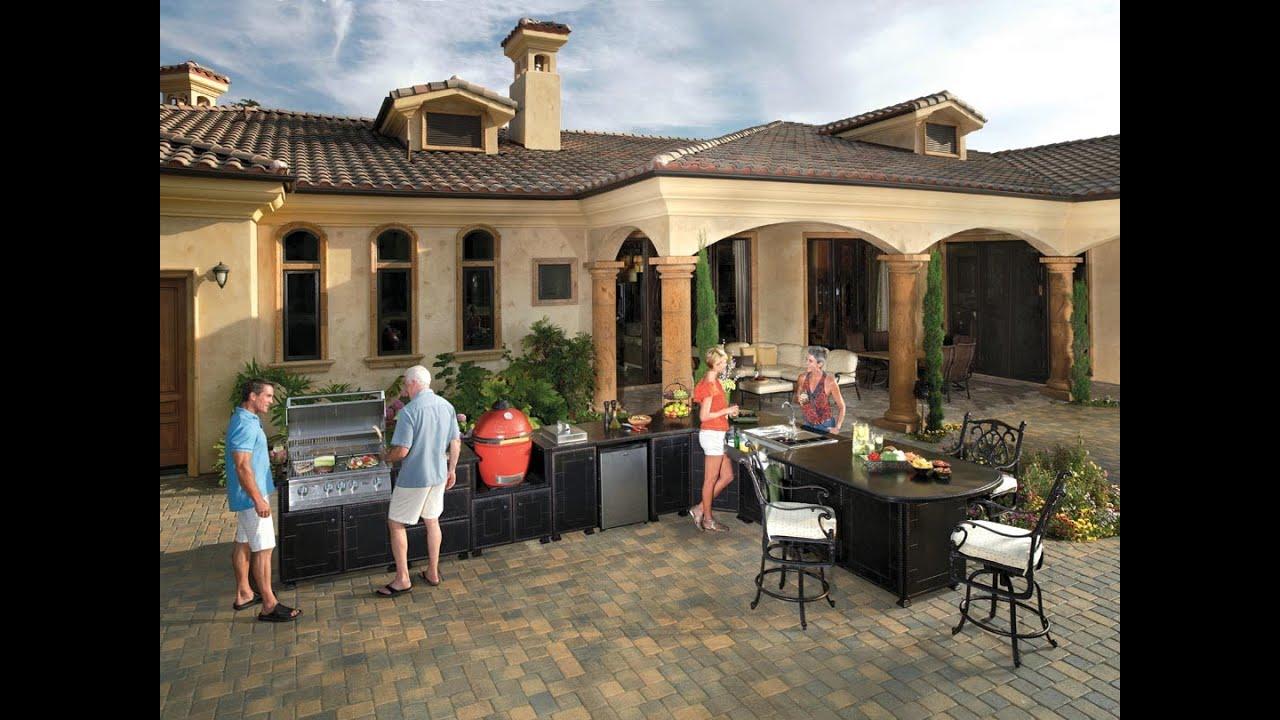 10 cool design ideas for outdoor kitchen modular systems for Outdoor kuchen module