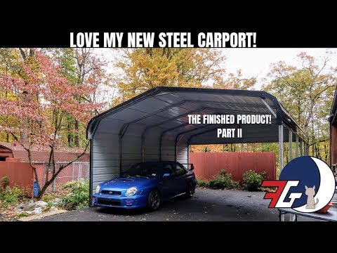 WATCH THIS before buying a STEEL BUILDING! Installation of 18x21 Steel Building Part 2