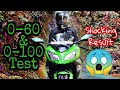 1st and 2nd gear top speed Test of Kawasaki Ninja 300