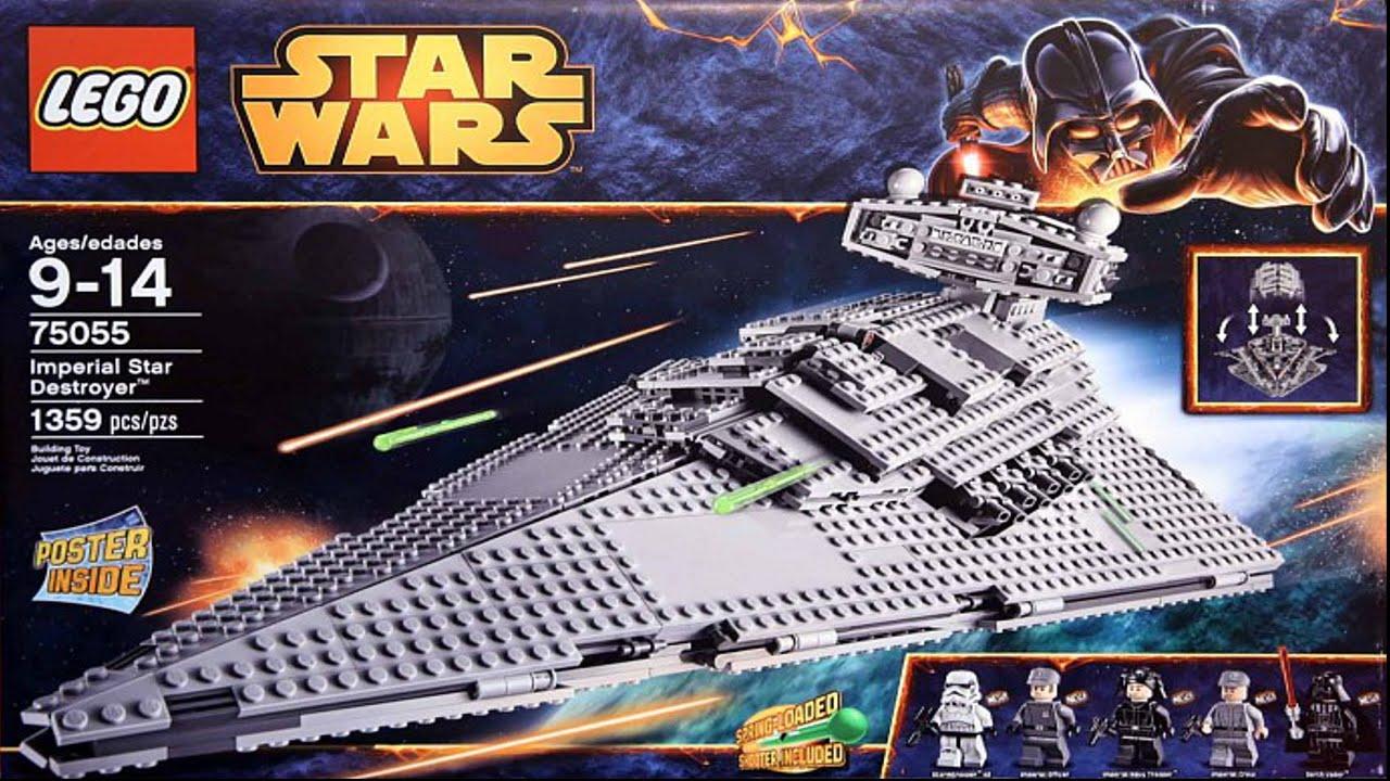 75055 imperial star destroyer lego star wars complete instruction rh youtube com lego star wars sets instruction manuals lego star wars death star instruction manual