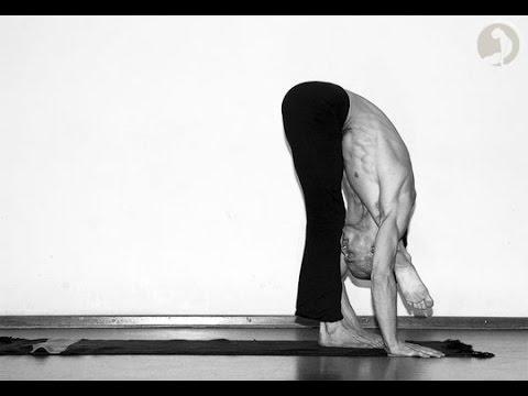 yoga leg behind the head pose  part 1  beginner yoga