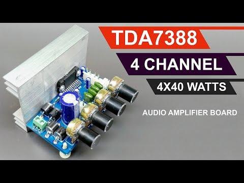 4X40 Watts 4 Channel Audio Amplifier Board DIY TDA7388/CD7388 IC (Hindi) ELECTRO INDIA