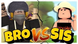 BROTHER VS SISTER TREE HOUSE BUILD AUS!!! II Roblox Bloxburg