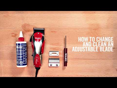 WAHL How to Change and Clean Wahl Adjustable Blades