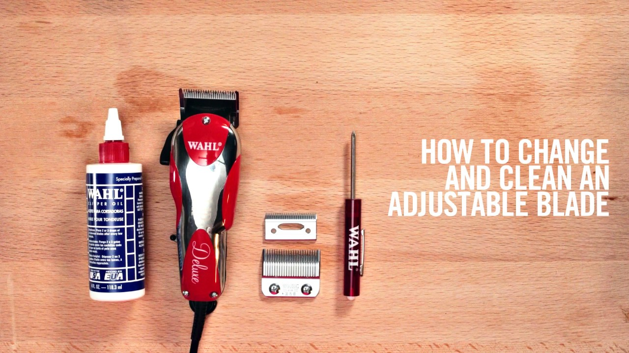 Wahl How To Change And Clean Wahl Adjustable Blades Youtube