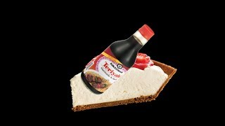 i like teriyaki sauce on my cheesecake