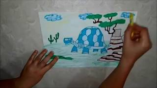 How to draw Tortuga from Wild Kratts