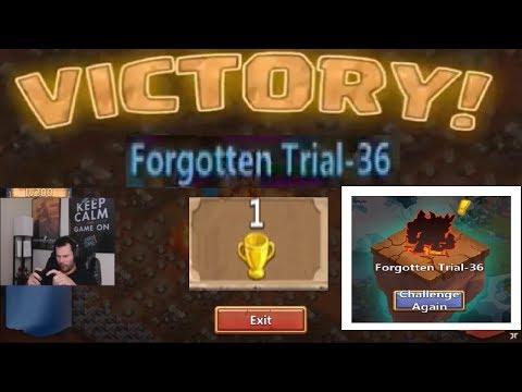 Rank 1 IOS Forgotten Trial 36 SPEED RUN Explaining Set Up Castle Clash