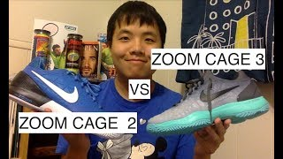 NIKE ZOOM CAGE 3 VS NIKE ZOOM CAGE 2--Which one is better?