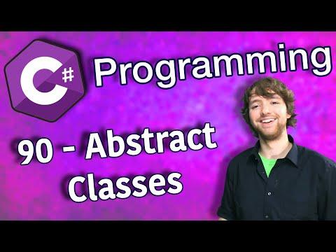 C# Programming Tutorial 90 - Abstract Classes thumbnail