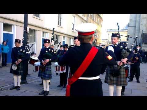 Downside Pipe band at Bath Parade 2012-11-11 13.46.20