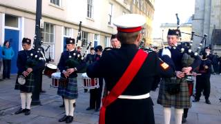 Downside Pipe band at Bath Parade 2012-11-11 13.46.20