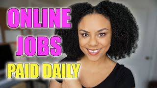 Online Jobs That Pay Daily 2020! (PayPal)