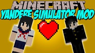 YANDERE SIMULATOR MOD - Senpai hazme tuyo!! - Minecraft mod 1.7.10 en español
