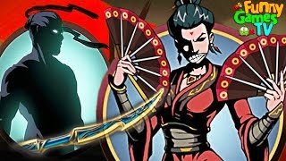 БОЛЬ ВДОВЫ мультик для детей игра Shadow Fight 2 бой с тенью БИТВА С ВДОВОЙ