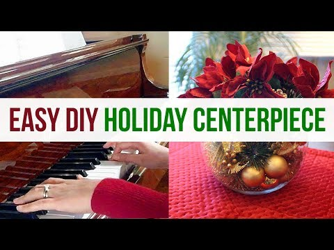 DIY Christmas Centerpiece Challenge | How to create an easy holiday centerpiece