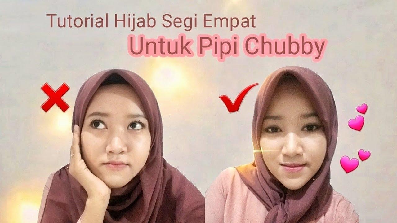 Tutorial Hijab Segi Empat Untuk Pipi Chubby Jadi Tirus Youtube