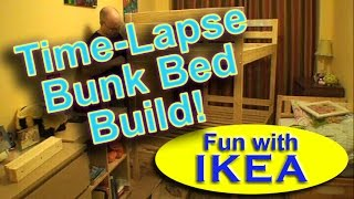 "Ikea ""mydal"" Bunk Bed Assembly Build Time-lapse Diy"