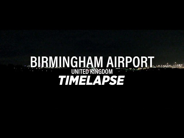 Night time time-lapse at Birmingham Airport | BHX | Jet Junkies