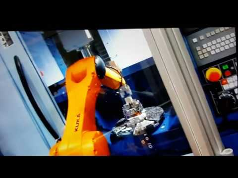 SCHUNK Gripper used for Robot Loading on a CNC machine
