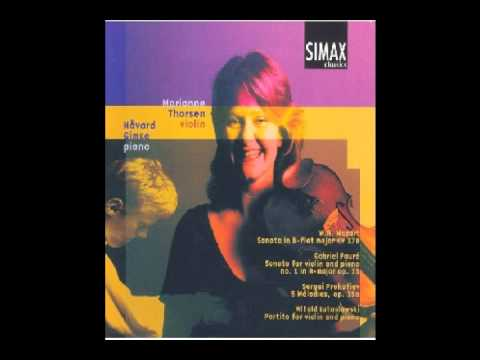 Marianne Thorsen   Mozart Sonata in B flat Major KV 378