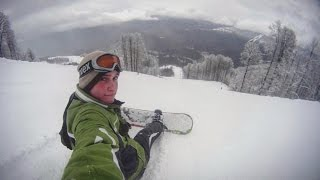 День 2. Пытаюсь освоить сноуборд. Роза Пик (2320 м)