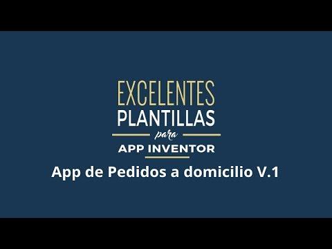 Plantilla de Aplicación Android de pedidos de restaurante echa con App Inventor