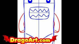 How to draw Domo, step by step