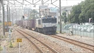 通過するのは、ほぼ貨物列車!! Almost a freight train passes!