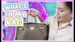 WHAT S IN MY BAG LIGHT WEIGHT EDITION HIHI  Purpleheiress Vlogs