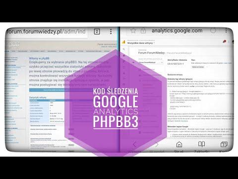 Kod śledzenia Google Analytics PhpBB3
