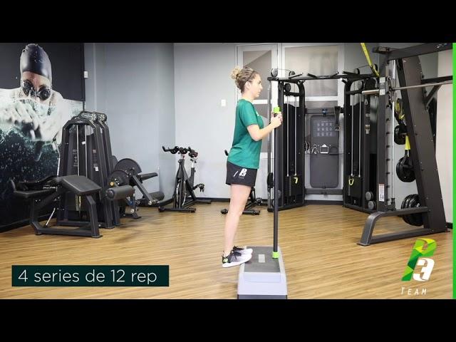 ejercicio de gemelo sobre cajon  step o escalera