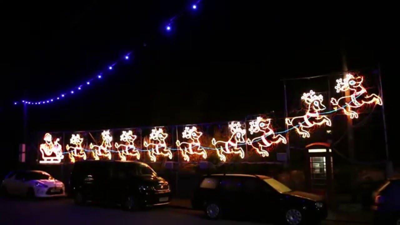 santa reindeer christmas lights angarrick 2015