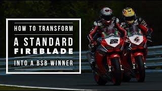How to transform a standard Honda Fireblade SP into a BSB race winner   BikeSocial