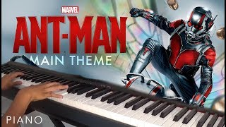 Video Ant Man - Main Theme (Piano Cover) download MP3, 3GP, MP4, WEBM, AVI, FLV Mei 2018
