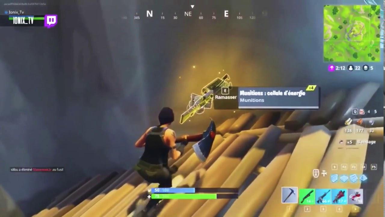 The Secret Gun In Fortnite Battle Royal Zapatron Sniper Youtube