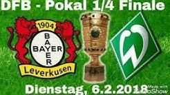LIVE Kommentar Tore! Bayer 04 Leverkusen - SV Werder Bremen 4:2 n.V. (2:2, 1:1) - DFB Pokal 1/4 Fina