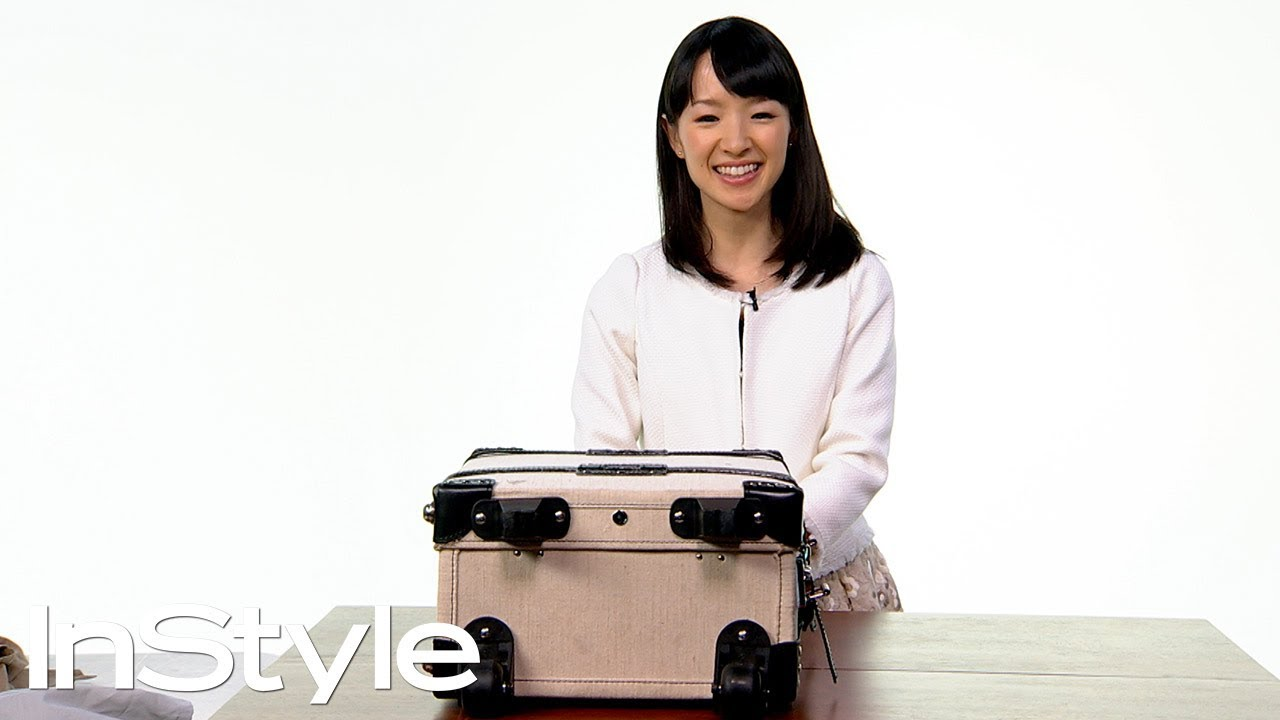 marie kondo shows us how to travel tidy instyle youtube. Black Bedroom Furniture Sets. Home Design Ideas