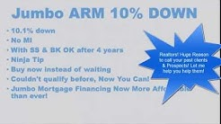 Jumbo Mortgage with only 10 Percent Down Payment and No Mortgage Insurance