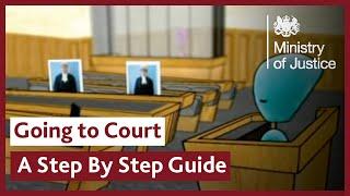 Bir tanık olmak için adım kılavuz mahkemeye gidiyor - bir adım