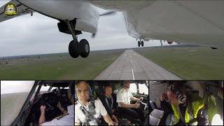 MUST SEE! Antonov 26 Outside- & Cockpit-Cams TAKEOFF, Air Urga [AirClips]