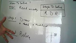 RDR , Read Draw Relate, method to solve , Analytical Reasoning , NTS Job Test, Entry Test , LDA