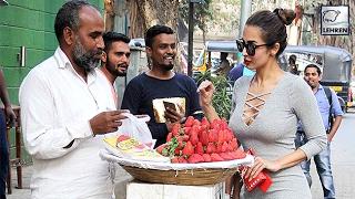Malaika Arora Spotted Bargaining For Strawberries On Streets | LehrenTV