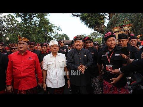 Suasana Pendukung Wayan Koster-Ace Di Pilkada Bali, Pasca Data Masuk 100 Persen Quick Count SMRC