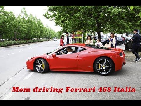 mom driving ferrari 458 italia hitting 200 kmh on public roads youtube - Ferrari Italia 458